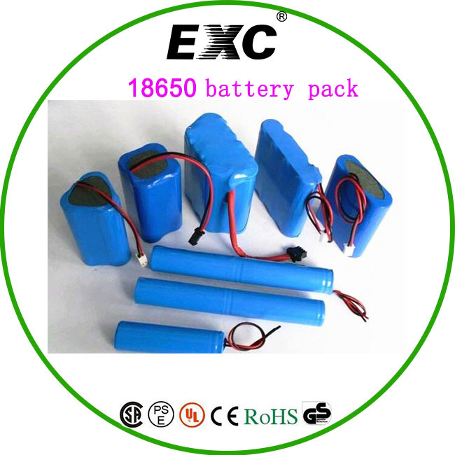18650 Exc Battery Rechargeable Power Battery Bag (18650 2000mAh/2200mAh/2600mAh/3000mAh)