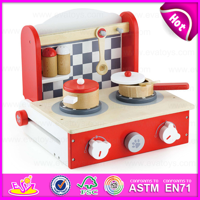 Kids Cooking Play Set Kitchen Cooking Set Toys, Pretend Kitchen Cooker with Wooden DIY Toys, Best Wooden Cooking Set Toys W10c157