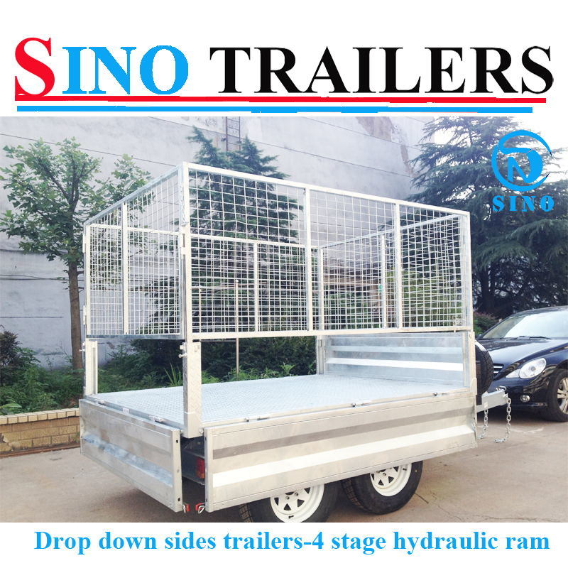 Hydraulic Tipping Trailers with Drop Down Sides