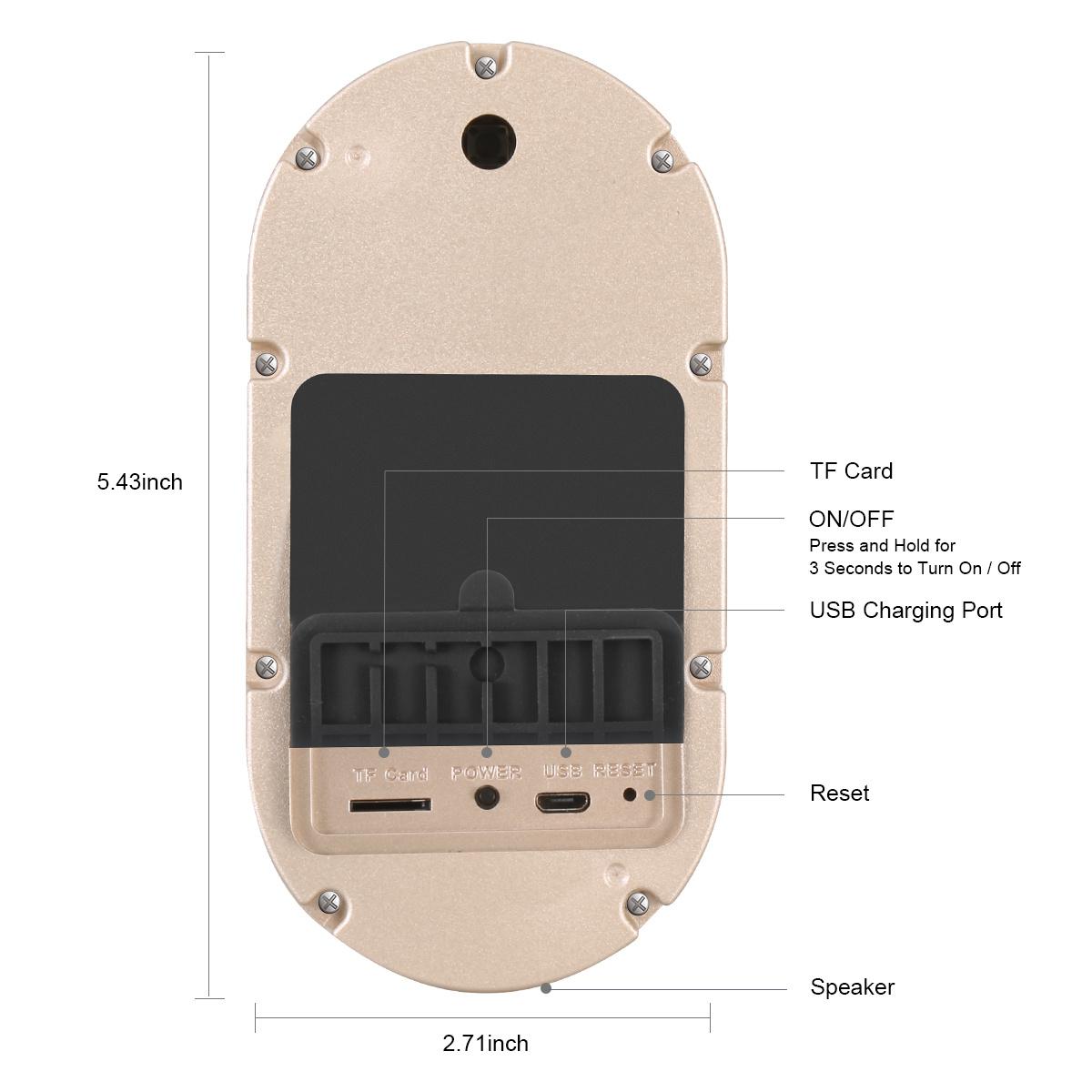 Battery Operated Wireless Security Door Cameras Remote Ring HD Phone Smart PIR Motion Sensor WiFi Video Doorbell