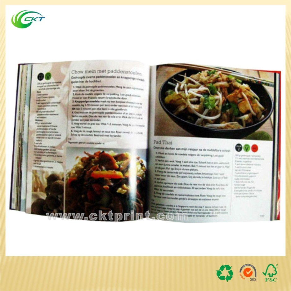 A4 Cook Colorful Offset Softcover Cactalogue Magazine Book Printing (CKT-BK-1142)