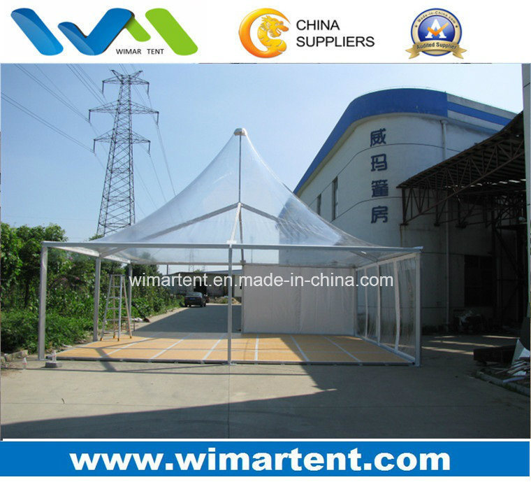 8X8m Outdoor Clear PVC Gazebo Tent with Floor for 50 People