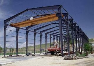Steel Structure Building with Crane