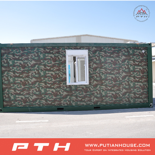 Customized Flat Pack Container House for Army Camp