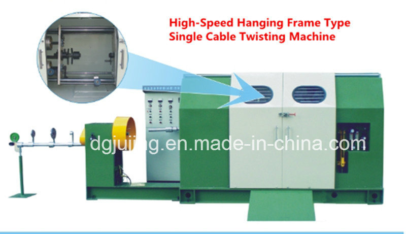 800p High-Speed Hanging Frame Type Single Stranding Twisting Machine for PVC Control Cable