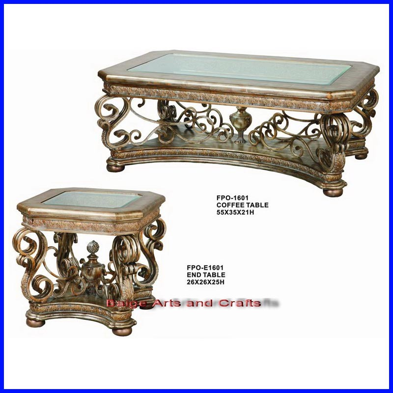 China latest classic wooden iron metal glass top coffee for Latest coffee tables