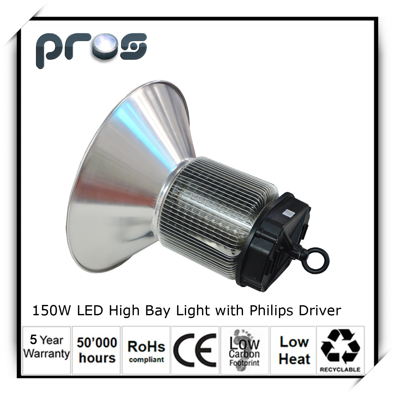 Super Brightness IP64 LED High Bay Light 150W for Indoor Lighting