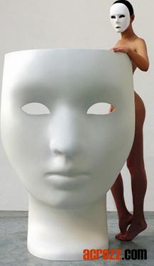 Outdoor Patio Fiberglass Face Mask Nemo Chair