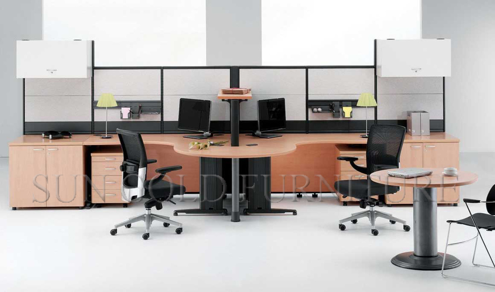 double office desk. modern double office desk with high partition wall szws169