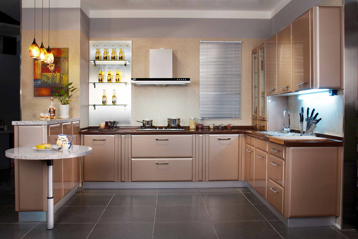 China Champagne Lacquer Kitchen Cabinet Photos & Pictures ...