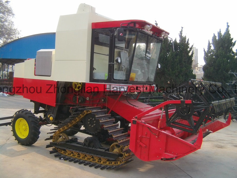 Combine Harvester of Crawler Type for Rice Paddy Harvesting