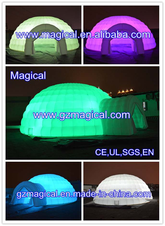 Inflatable Party Event Wedding Cube Outdoor Dome Advertising Exhibition Tent with LED (MIC-606)