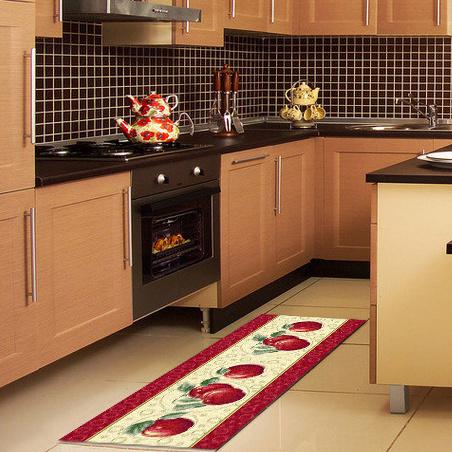 China Latest Modern Apple Design Kitchen Carpet And Rug China Apple Design Mats Apple Design