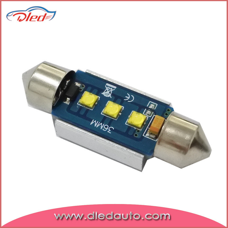 12V 2.5W 36mm Super Canbus CREE LED Festoon Bulb 3*CREE LED Auto Light