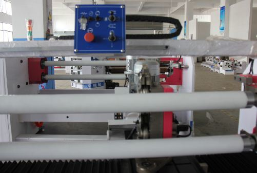 Double Shaft Auto Adhesive Tape Roll Cutting Machine (JY-8208)