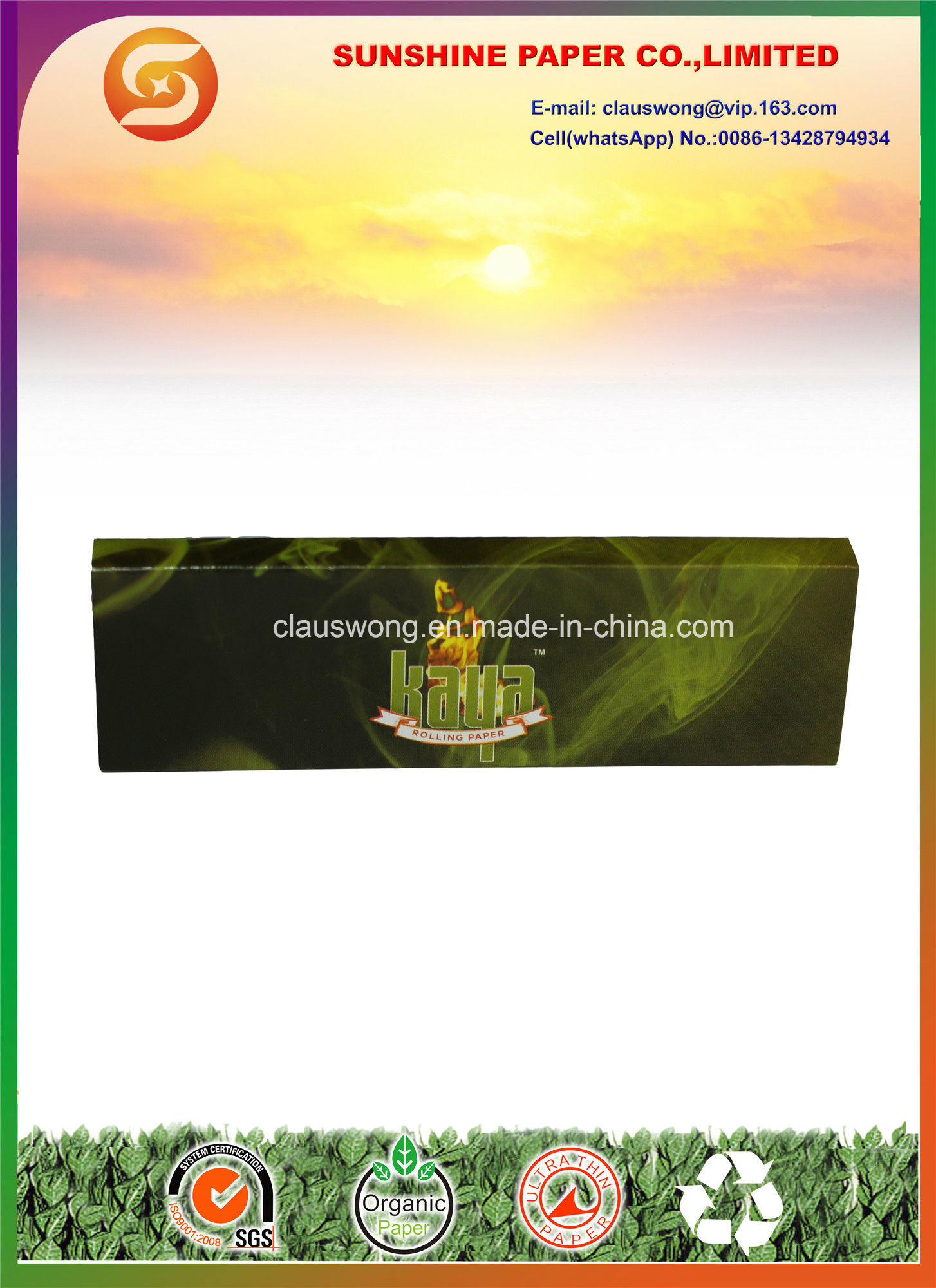 Cigarette Rolling Paper with Filter Tips