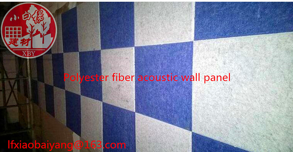 Acoustic Panel Wall Panel Ceiling Panel Detective Panel of Polyester Fiber Board 1220*2420*9mm