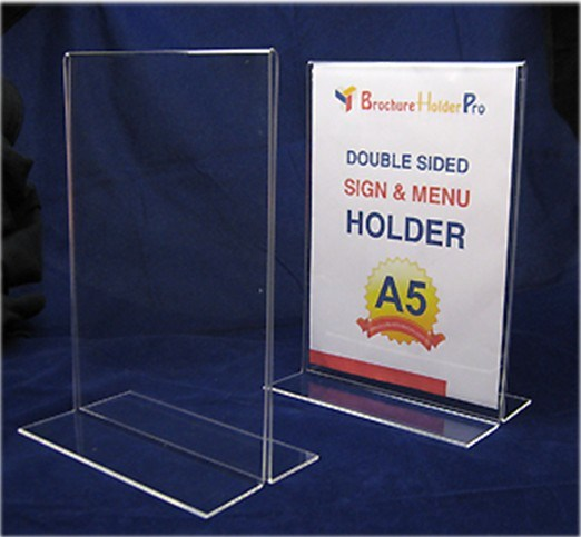 China Vertical Double Sided Stand Up Acrylic Sign Holder