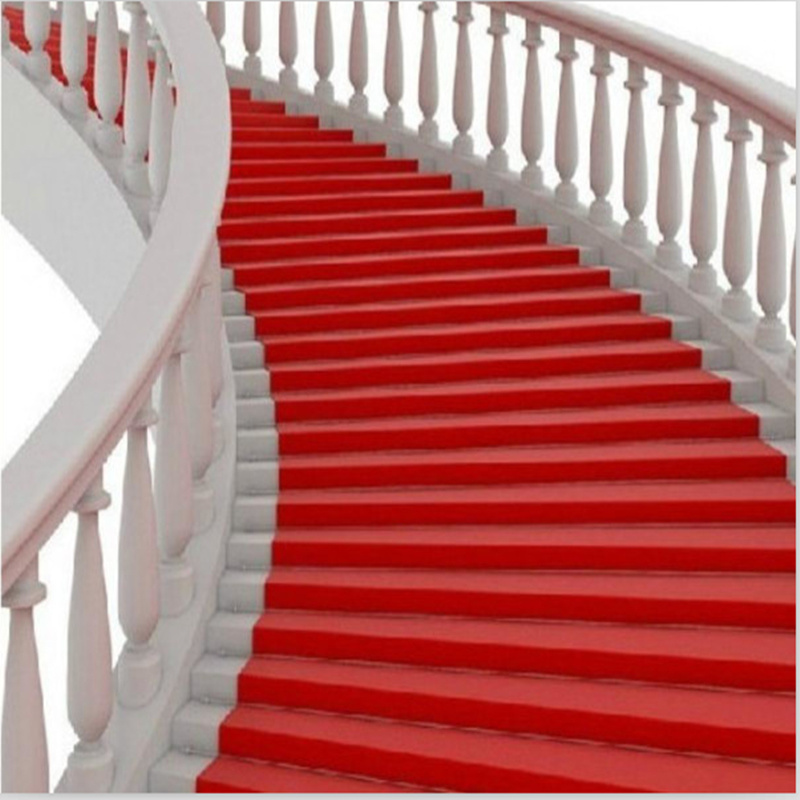 Nonwoven Polyester Plain Red Exhibition Carpet