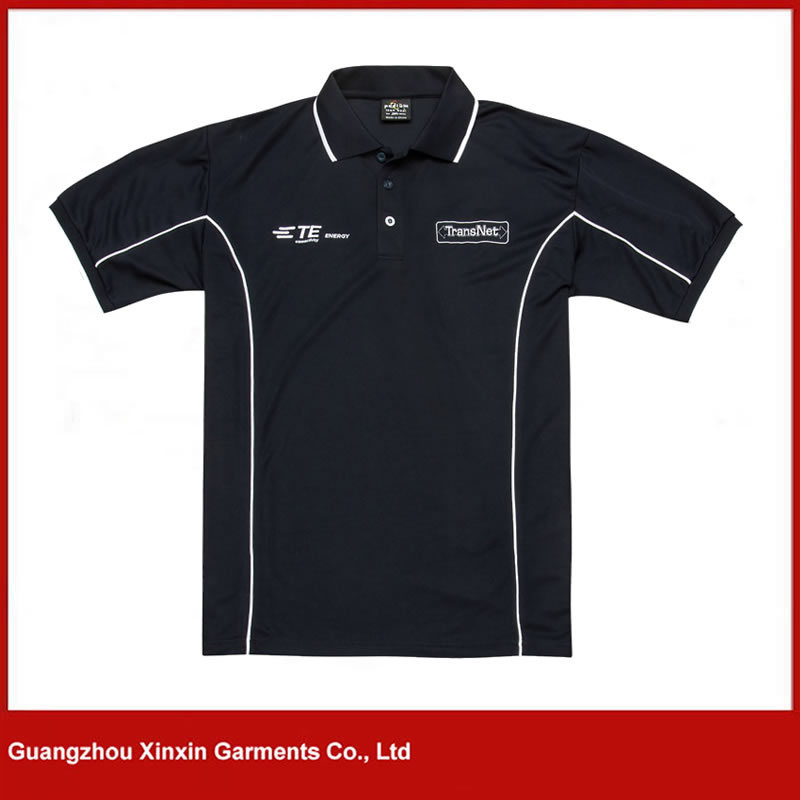 2017 Fashion Style Black Short Sleeve Polo Shirt for Men (P101)