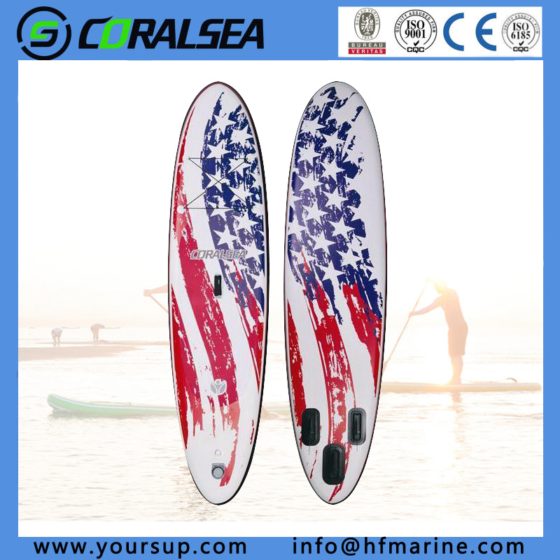 "PVC/PVC Material/EVA/EVA Material/PVC Drop Stitch Movement Surfboards with Quality (N. Flag10′6"")"