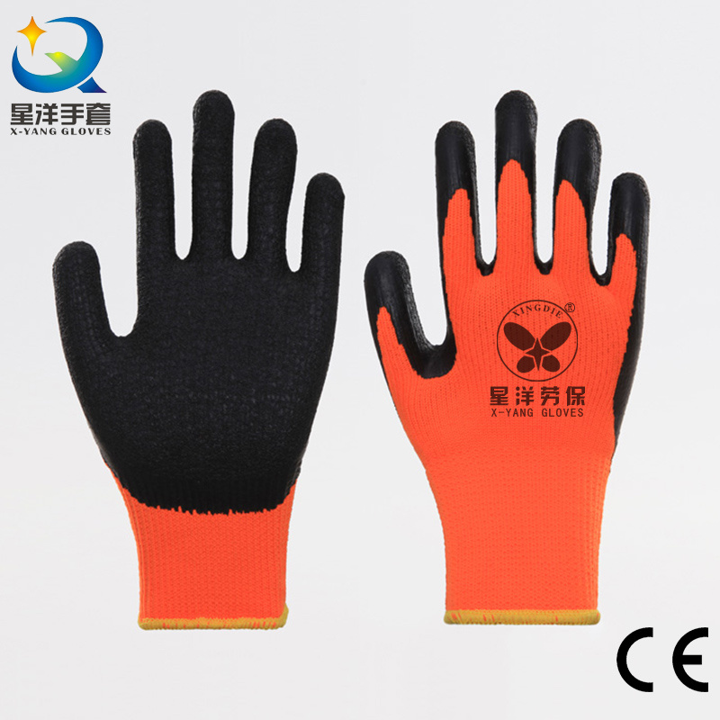 Acrylic Napping Lining Latex Coated Safety Glove L027
