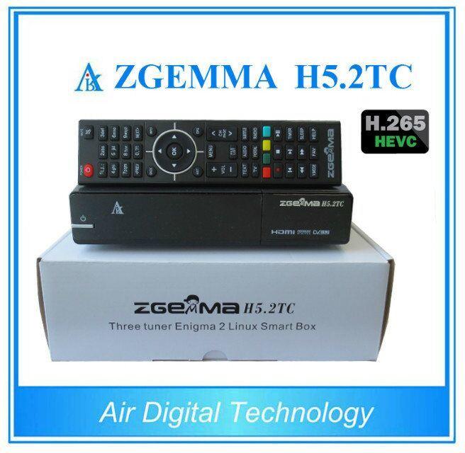 H. 265 / Hevc HD Receiver Zgemma H5.2tc DVB-S2+2*DVB-T2/C Hybrid Combo Tuners