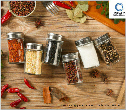 Wholesale Glass Kitchen Spice Bottle with Metal Lid Kitchen