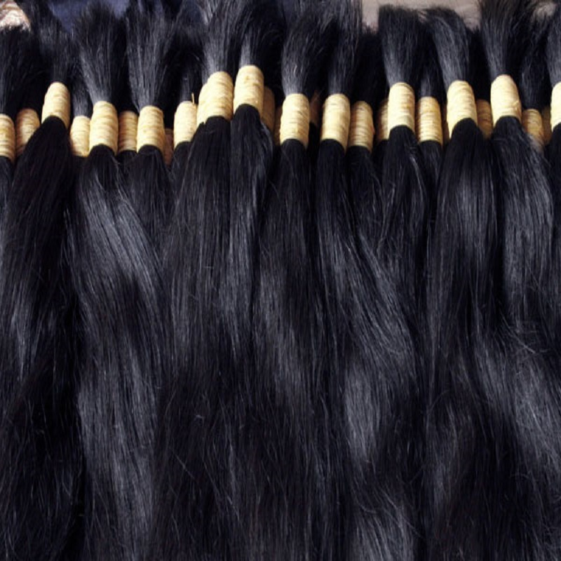 Chinese Ponytail Virgin Natural Remy Human Hair Bulk