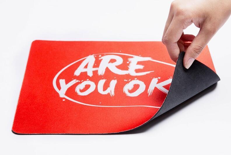 Non Slip Rubber Base Customized Mouse Pad Mousepad