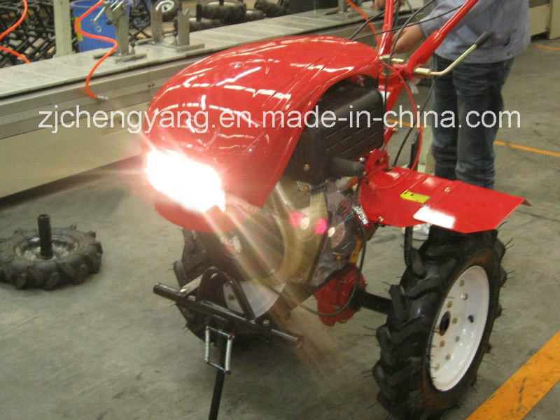 Diesel Electric Power Tiller with Light and Cover (1WG6.3-3)