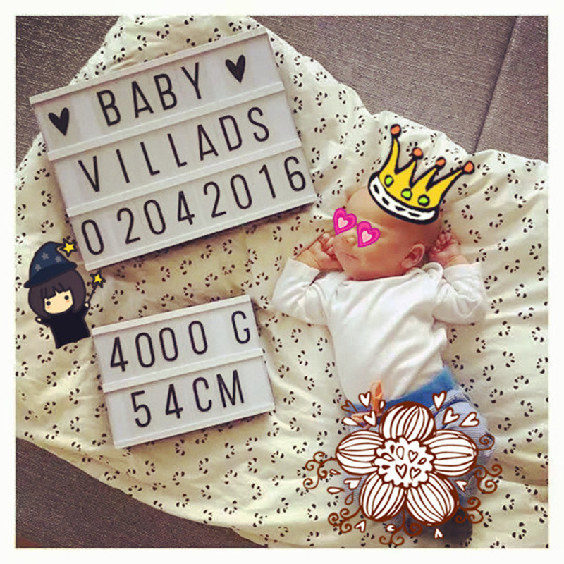 ABS Material Baby Teaching Advertising Display
