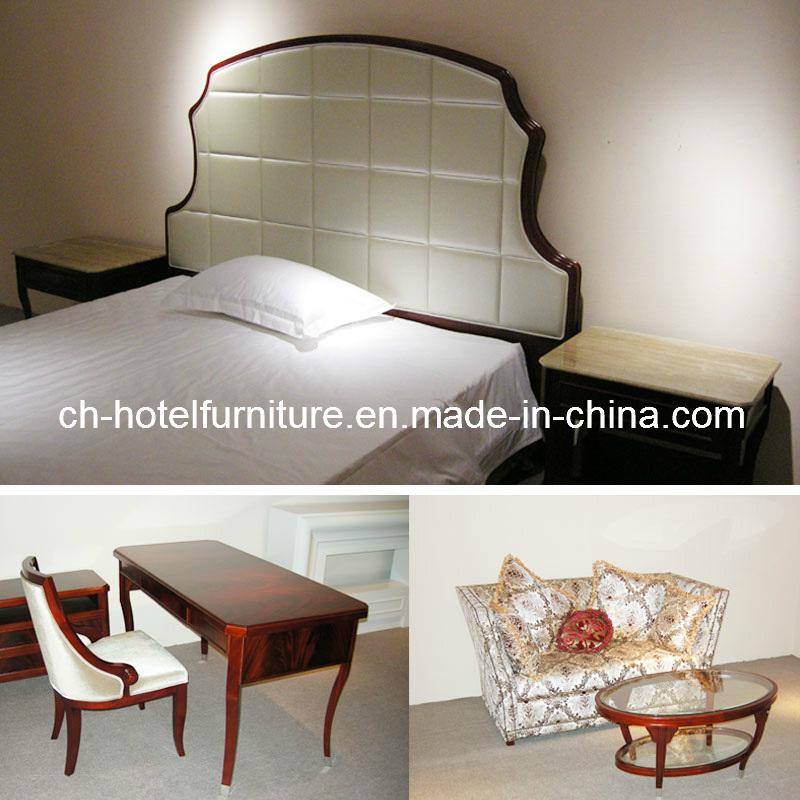 2018 Kingsize Luxury Chinese Wooden Restaurant Hotel Bedroom Furniture (GLB-70008)