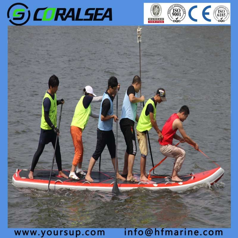 """PVC/PVC Material/EVA/EVA Material/PVC Drop Stitch Water Sport Surfboard with High Quality (Giant15′4"""")"""