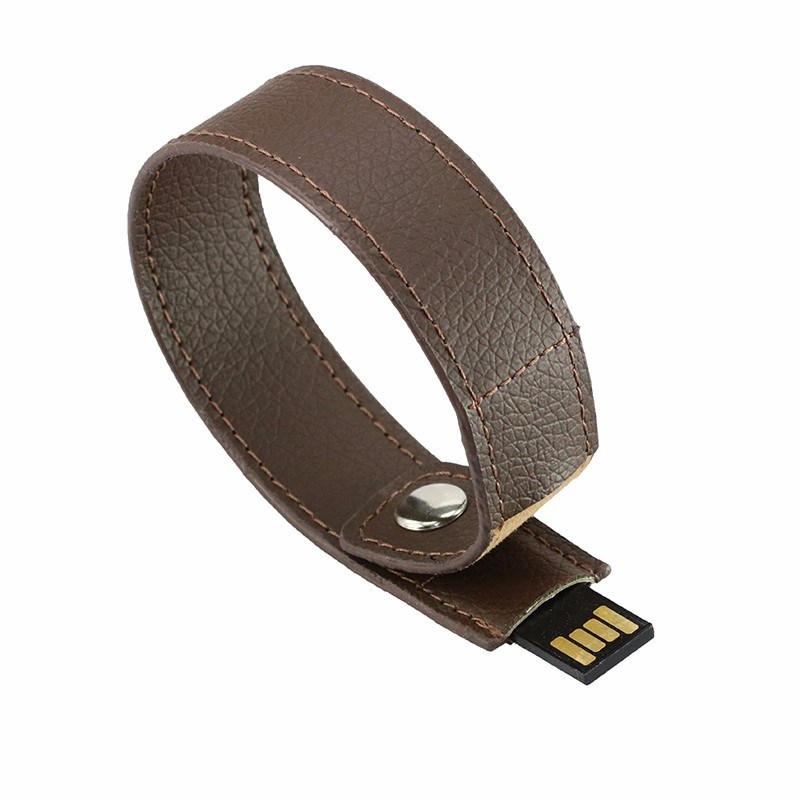 Full Capacity Flash Drive 64G Pen Drive Leather Wrist Band USB Flash 16g 32g Bracelet USB