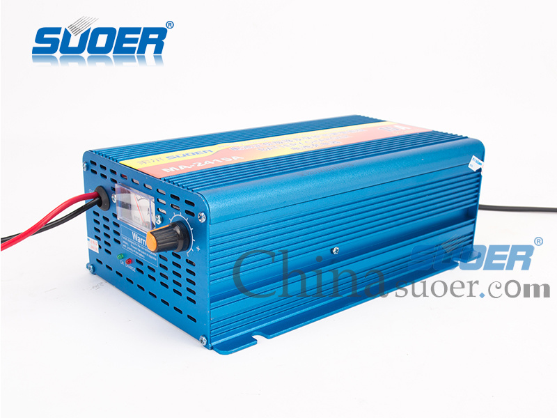 Suoer Battery Charger 15A Intelligent Battery Charger 24V with Four-Phase Charging Mode (MA-2415A)