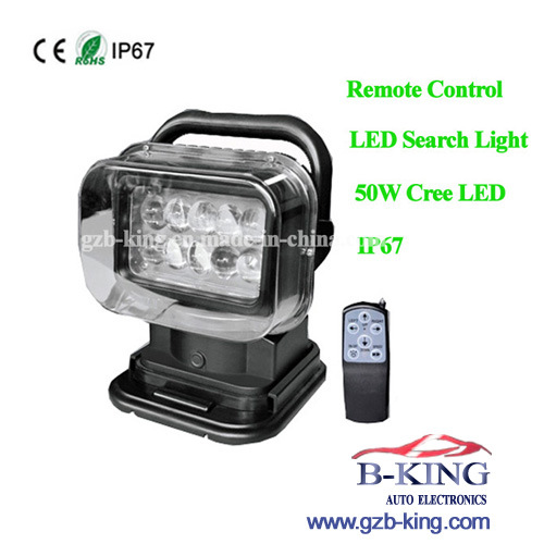 Hot Wholesale IP67 Remote Control 50W CREE LED Search Light