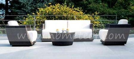 Wicker Outdoor Furniture Sofa Set PE Rattan Sofa (MTC-287)