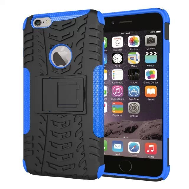 Newest Hybird Armor Mobile Cell Phone Plastic PC Silicone Cover Case for iPhone 6