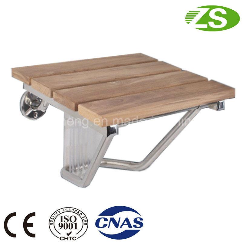HS-a Bathroom Modern Teak Wood Folding Shower Seat, Wall Mounted Shower Seat