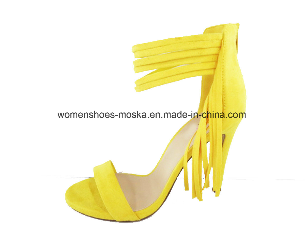 Three Colors New Arrival Fashion Women High Heel Lady Shoes with Lace