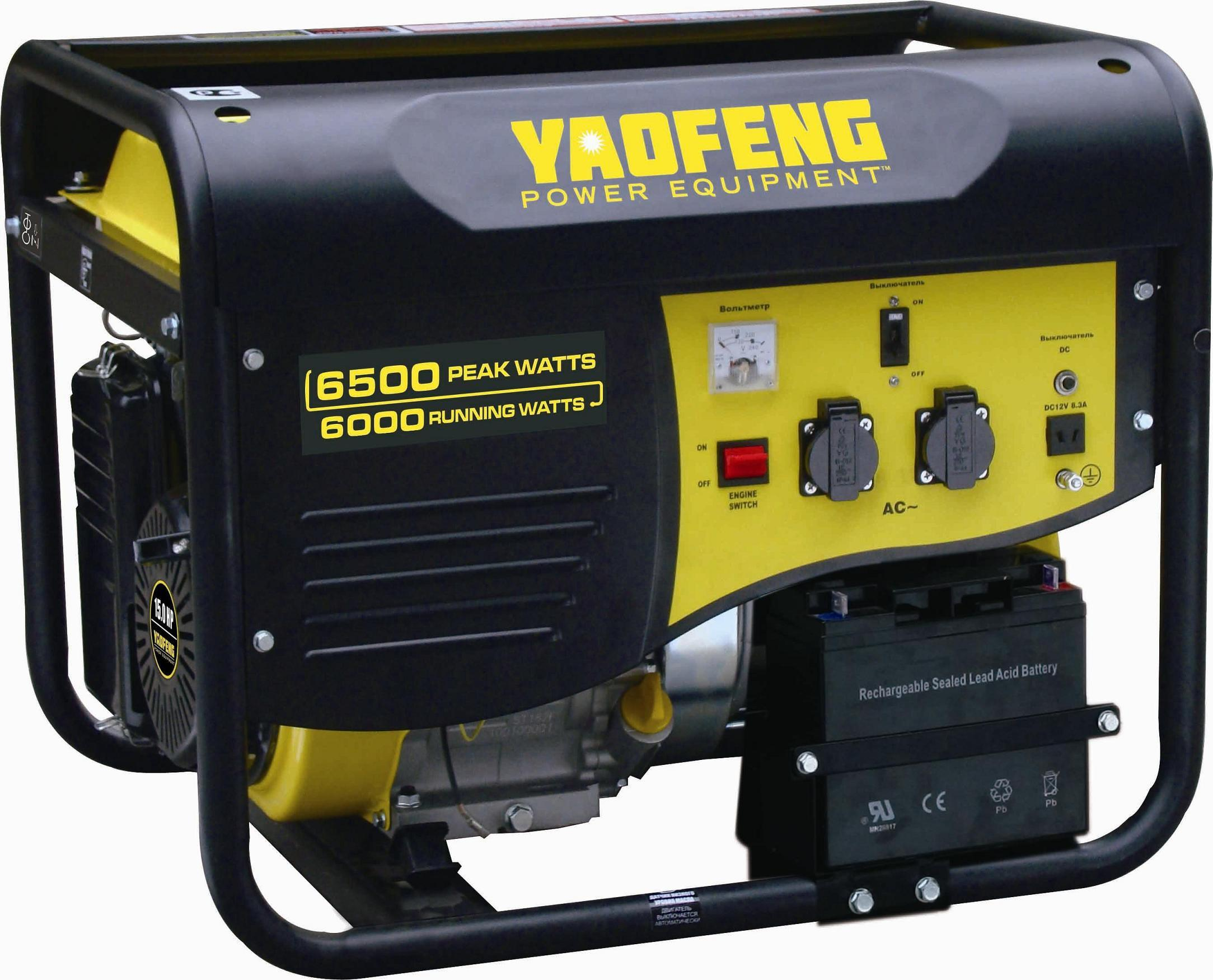 6000 Watts Portable Power Gasoline Generator with EPA, Carb, CE, Soncap Certificate (YFGP7500E1)