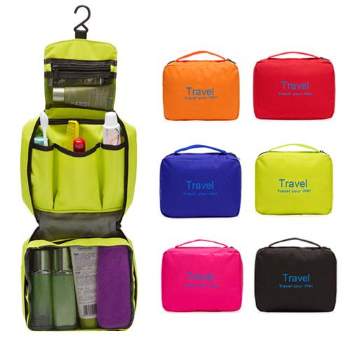 Waterproof Nylon Travelling Hook Toiletry Cosmetic Makeup Bag (MS7027)