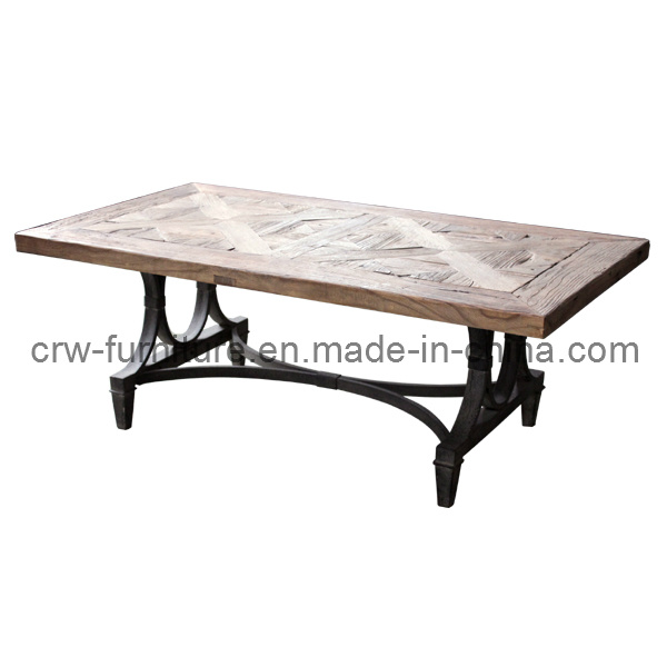 Reclaimed Elm Wooden Modern Home Furniture Coffee Table