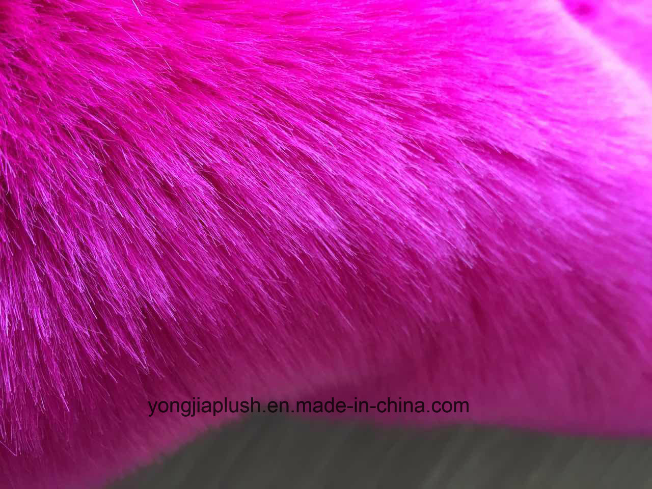 Rose Red Arctic Fox Faux Fur