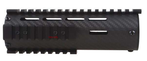 Carbon Fiber Tactical Free Float Carbin 7 Inch Ar15 M4 Handguard