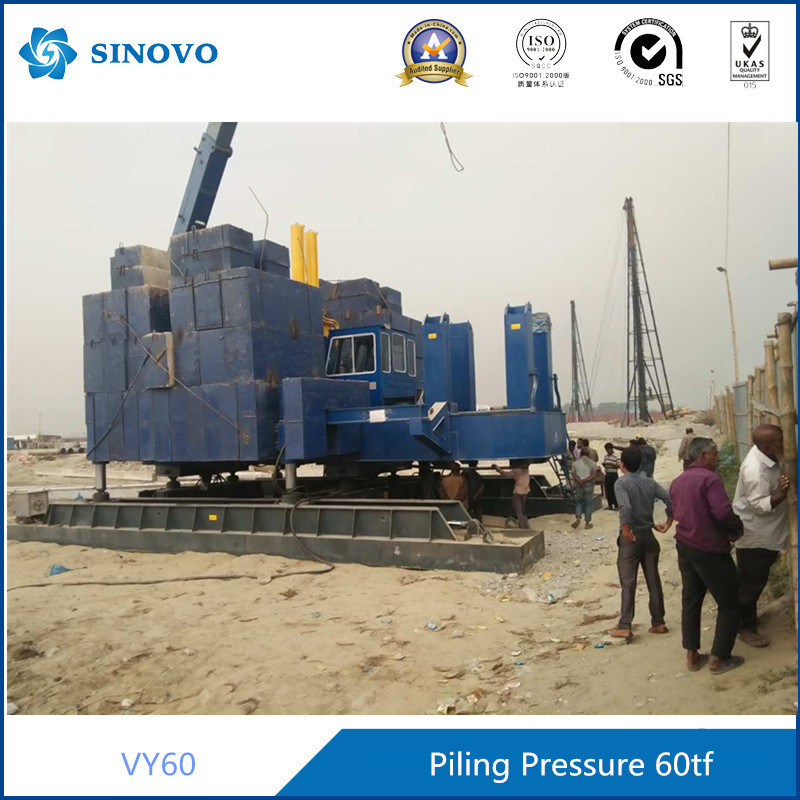Hydraulic Pressure Static Pile Driver with Excavator