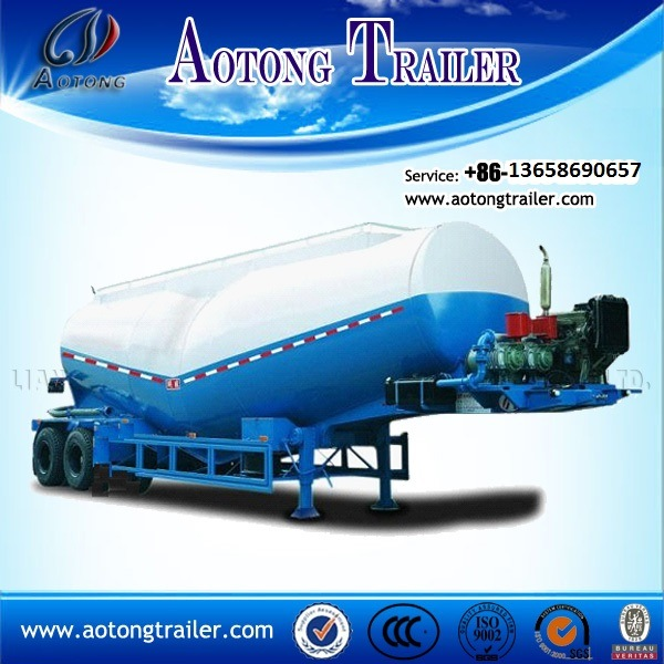 China Manufacturer, Bulk Cement Tanker Carriers 60 Tons Capacity Triple Axle with Air Compressor for Sale