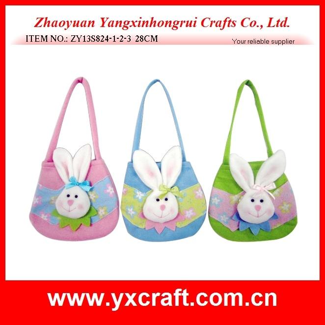 Easter Decoration (ZY15Y317-1-2-3) Easter Handbag Felt Bag Easter Drawstring Bag Easter Bunny Gift Item