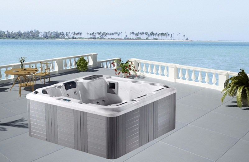 Leisure Outdoor Jacuzzi Balboa System Hot Selling Whirlpool Massage Hot Tub SPA (M-3357)